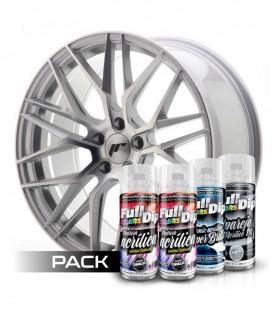 Pack 'Paint Your Wheels' Acrylic ALUMINIUM MÉTALISÉ