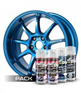 Pack 'Paint Your Wheels' Acrylic BLEU METALISE