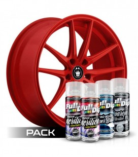 Pack 'Paint Your Wheels' Acrylic ROUGE
