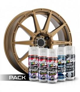 Pack 'Paint Your Wheels' Acrylic BRONZE MÉTALISÉ